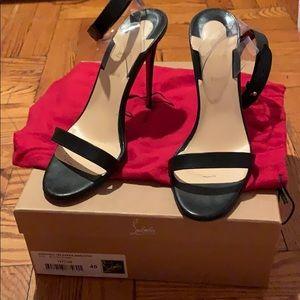 Christian Louboutin black/ Transp heels